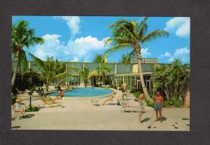 FL Suntide Apts Apartments Long Beach Sarasota Florida Postcard Shuffle Board
