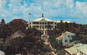 Front view of Government House, residence of the Governor, Nassau, Bahamas, 4...