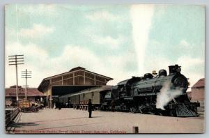 San Jose CA~Train at Southern Pacific Broad Gauge Depot~Wagon Load~1910 Britton