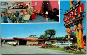 Chateauguay Quebec CANADA Postcard CHATEAU GAI MOTEL 2 Views Roadside 1950s Cars