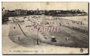 Old Postcard Panorama Dinard the Beach