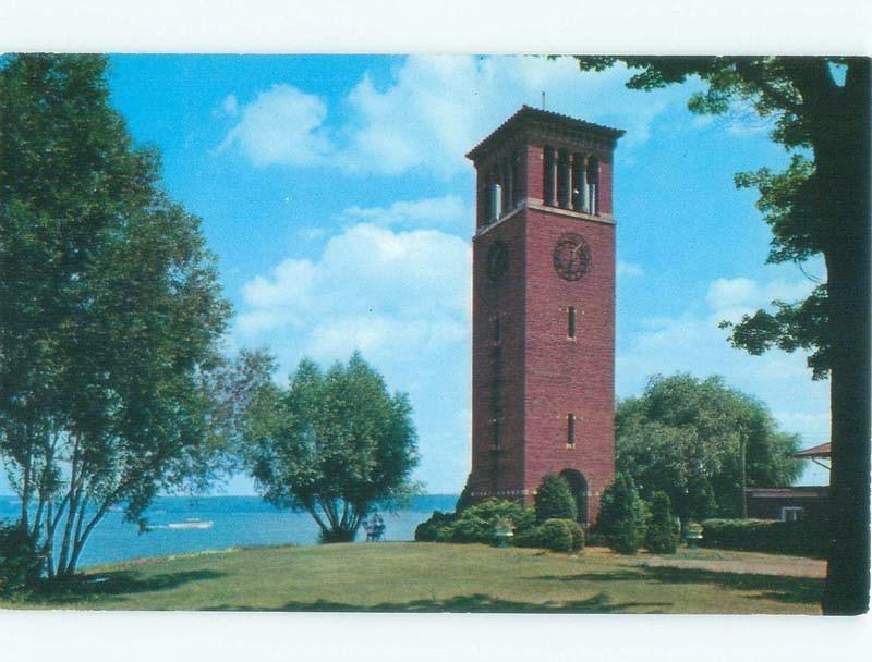 Unused Pre-1980 MILLER BELL TOWER Chautauqua - Near Jamestown New York NY E5630