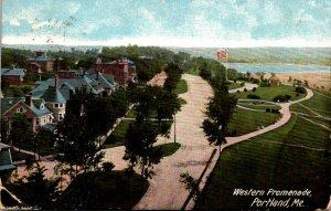 Maine Portland Western Promenade 1910