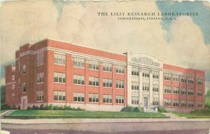 Indianapolis Indiana~The Lilly Research Laboratories~1941 Postcard