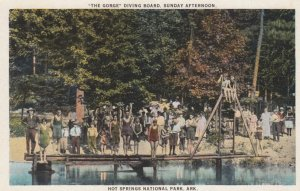 HOT SPRINGS , Arkansas , 1910s ; The Gorge Diving board