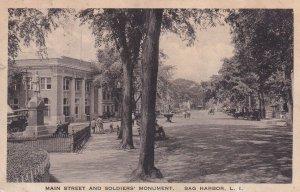 SAG HARBOR, Long Island, New York, 1900-10s; Main Street & Soldiers Monument