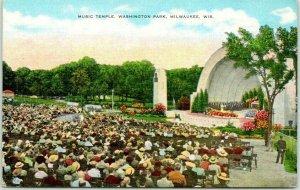 1940s Milwaukee, Wisconsin Postcard Music Temple, Washington Park Band Shell