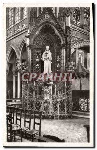 Postcard Old Pontmain Mayenne the Throne of the Virgin