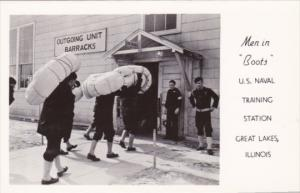 Military Outgoing Unit Barracks Men In Boots U S Naval Training Station Great...