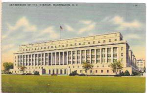Unused penny post card.  Department of the Interior, Washington, D.C.