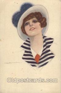 Series no. 308-2 Artist Signed Giovanni Nanni (Italy) 1918 crease and wear le...