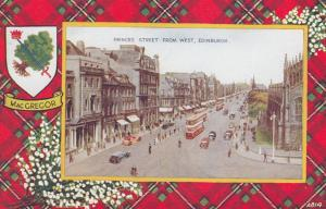 EDINBURGH, Scotland, UK, 1900-10s; Princes Street from West, MacGregor Tartan