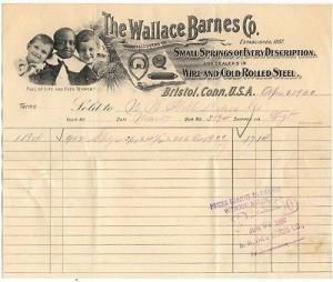 1900-03 Billhead, THE WALLACE BARNES COMPANY,  Bristol, C...
