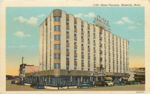 Missoula Montana~Hotel Florence~Art Deco Architecture~JC Penney~1943 Linen