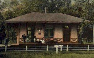 Conimicut, Rhode Island, RI, USA Railroad Train Depot 1907 postal used 1907