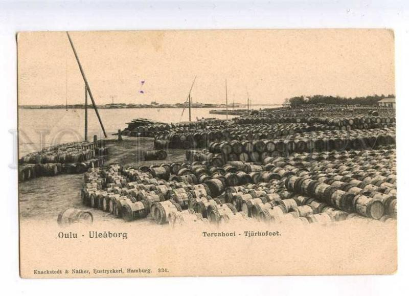 232822 FINALND OULU tar storage OLD undivided back postcard
