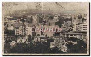 Old Postcard Morocco Casablanca sky scraper inicais box and the ford of the E...