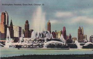 Illinois Chicago Buckingham Fountain In Grant Park