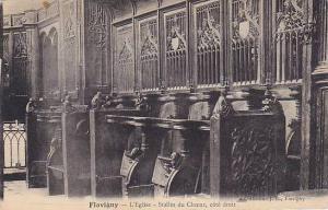 Flavigny-sur-Ozerain , France , 00-10s ; L'Eglise - Stalles du Choeur, cote d...