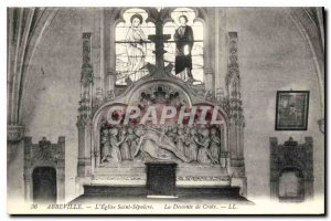 Postcard Old Abbeville Church of the Holy Sepulcher The descent Ctoix