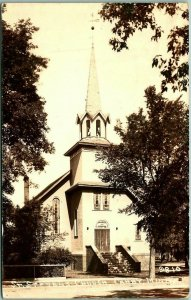 Canby, Minnesota RPPC Real Photo Postcard ST. STEPHEN'S CHURCH c1930s Unused