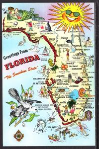 Greetings From Florida,Map