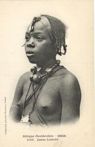 CPA Senegal Ethnic Nude Fortier - 1145. Jeune Lahobé (71201)