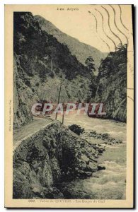 Old Postcard The Queyras Valley Alps Gorges du Guil