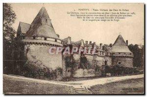 Old Postcard Vieux Chateau Pontivy Rohan Dukes
