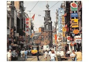 Netherlands Reguliersbreestraat Amsterdam Street Shops, Film Post Kodak Tram Car