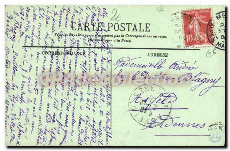 Old Postcard Menton Garavan And Vue Prize De La Frontiere Italian