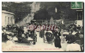 Old Postcard The Hautes Pyrenees The Grotto