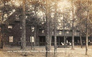 LP51 Christiana Lake  Michigan  Postcard RPPC  Tavern