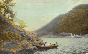 Hudson River New York 1912 Postcard In The Highlands Steamboat