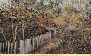 Glen NY~Picket Fence Entrance to Stony Brook c1914 Postcard