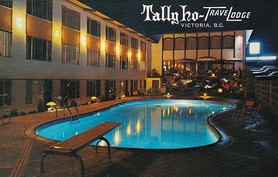 Canada British Columbia Taly Ho TraveLodge Swimming Pool Victoria