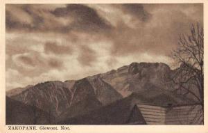 Zakopane Poland Giewont Noc Mountains Scenic View Antique Postcard J74717