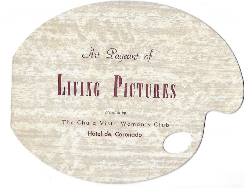 Hotel del Coronado California 5-17-1955 Living Pictures Program Chula Vista Club