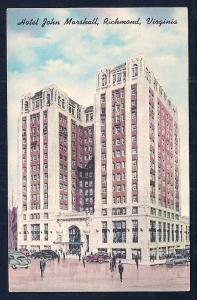 Hotel John Marshall Richmond VA unused c1930's
