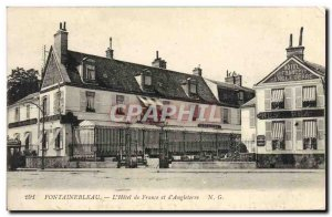Old Postcard Fontainebleau L & # 39Hotel of France and & # 39Angleterre