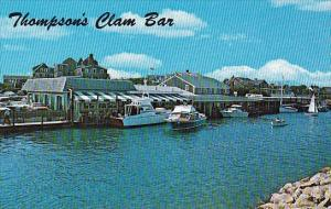 Massachusetts Cape Cod Harwich Port Thompson Brothers Clam Bar On Wychmere Ha...