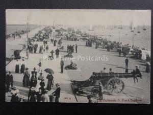 Hampshire SOUTHSEA Esplanade & Beach CANNON Portsmouth c1907 by J.Welsh & Sons