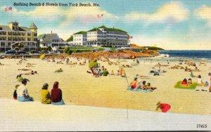 Maine Bathing Beach and Hotels From York Beach