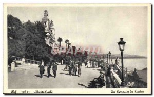 Postcard Old Bef Monte Carlo Casino Terraces