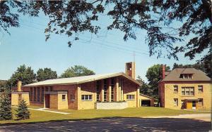 Frankfort Michigan~St Ann's Catholic Church~Rebuilt 1958~Postcard