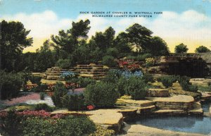 Postcard Rock Garden Charles B Whitnall Park Milwaukee Wisconsin
