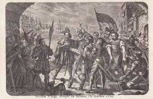 Bataille De Soleure 1532 Antique Switzerland Medieval Battle Military Postcard
