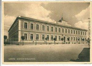 07870  CARTOLINA d'Epoca - FOGGIA: LUCERA - SCUOLA