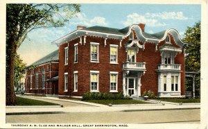 MA - Great Barrington. Thursday A.M. Club & Walker Hall