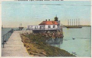 PORTLAND , Maine , 1927 ; Breakwater Lighthouse